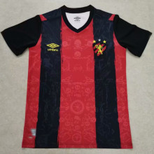 2021/22 Recife Home Black Red Training Jersey