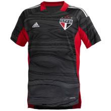 2021/22 Sao Paulo Black Red GK Soccer Jersey
