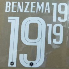 2020/21 France BENZEMA  #19 Home Jersey Fonts 法国主场字体