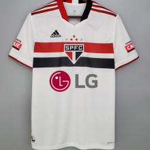 2021/22 Sao Paulo 1:1 Home Fans Soccer Jersey(All AD 全广告,前后LG)