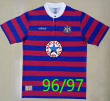 1996/97 Newcastle Home Red Blue Retro Soccer Jersey