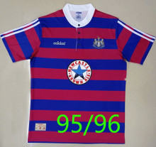 1995/96 Newcastle Home Red Blue Retro Soccer Jersey