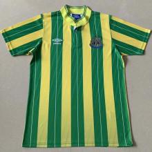 1988 Newcastle Away Green Yellow Retro Soccer Jersey