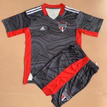2021/22 Sao Paulo Black GK Kids Soccer Jersey