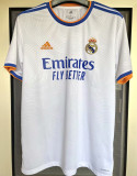 2021/22 RM Home 1:1 Quality White Fans Soccer Jersey