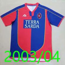 2003-2004 Cagliari Home Retro Soccer Jersey
