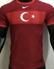 2021 Turkey Away Red Player Soccer Jersey