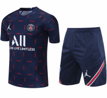 2021/22 PSG Blue Short Training Jersey(A Set)拉链口袋