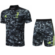 2021/22 JUV Camouflagee Short POLO Jersey(A Set)拉链口袋