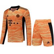 2021/22 BFC Orange GK  Long Sleeve Soccer Jersey(A Set)