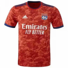 2021/22 Lyon 1:1 Quality Away Red Fans Soccer Jersey