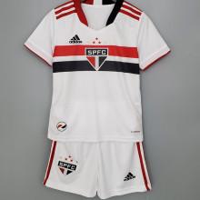 2021/22 Sao Paulo Home White Kids Soccer Jersey