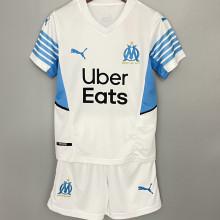 2021/22 Marseille Home Kids Soccer Jersey