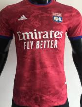 2021/22 Lyon Away Red Player Version Soccer Jersey