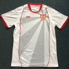 2021/22 North Macedonia Away White Fans Soccer Jersey