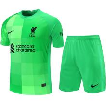2021/22 LFC Green GK Soccer Jersey(A Set)(Pants Have Number)裤有号码