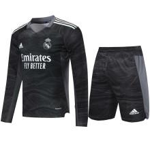 2021/22 RM Black GK Long Sleeve Soccer Jersey(A Set)