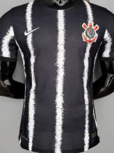 2021/22 Corinthians Away Black Player Version Soccer Jersey