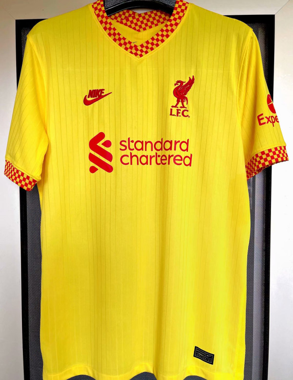 2021/22 LFC 1:1 Quality Away Yellow Fans Soccer Jersey