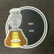 COPA AMERICA  2 Cup Patch 1953,1979 Paraguay Jersey 2字杯美洲杯巴拉圭专用