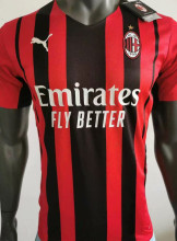 2021/22 AC Milan Home Player Version Soccer Jersey