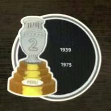 COPA AMERICA  2 Cup Patch 1939,1975 Peru Jersey 2字杯美洲杯秘鲁专用