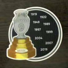 COPA AMERICA  9 Cup Patch Brazil Jersey 9字杯美洲杯巴西专用