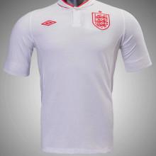 2012 England Home White Retro Soccer Jersey