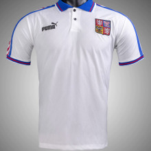 1996 Czech Away White Retro Soccer Jersey