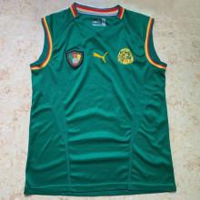 2002 Cameroun Home Green Retro Soccer Jersey