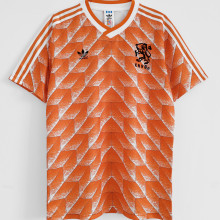 1988 Netherlands Home Orange Retro Jersey