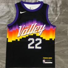 2021 Suns AYTON #22 City Edition Black NBA Jerseys Hot Pressed