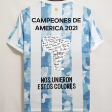 2021 Argentina Copa América Championship Edition 1:1 Fans Jersey 球迷版有胸前15星小字