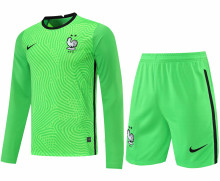 2021/22 France Green GK Long Sleeve Soccer Jersey(A Set)