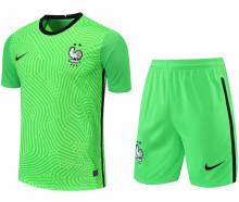 2021/22 France Green GK Soccer Jersey(A Set)