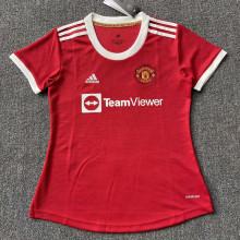 2021/22 M Utd Home Red Women Soccer Jersey