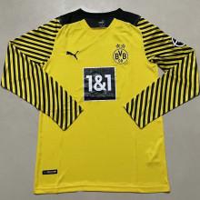 2021/22 BVB Home Yellow Long Sleeve Soccer Jersey