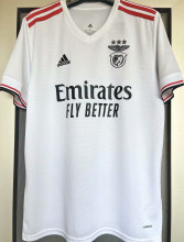 2021/22 Benfica 1:1 Quality Away White Fans Soccer Jersey