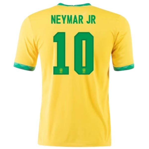 NEYMAR JR #10 Brazil Home 1:1 Yellow Fans Soccer Jersey 2020/21