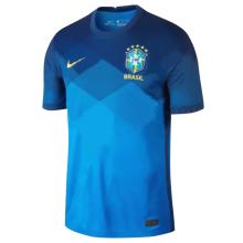 2020 Brazil 1:1 Quality Away Blue Fans Soccer Jersey