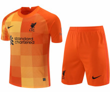 2021/22 LFC Orange GK Soccer Jersey(A Set)(Pants Have Number)裤有号码