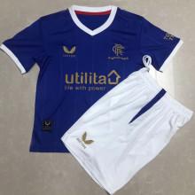 2021/22 Rangers Home Blue Kids Soccer Jersey