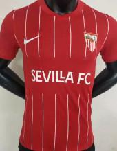 2021/22 Sevilla Away Red Player Version Soccer Jersey