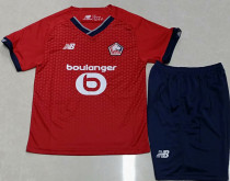 2021/22 Lille Home Red Kids Soccer Jersey