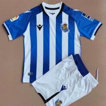 2021/22 Real Sociedad Home Kids Soccer Jersey