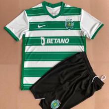 2021/22 Sporting CP Lisbon Home Kids Soccer Jersey