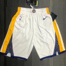 2021 Warriors White NBA Pants