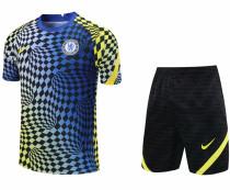 2021/22 CFC Blue Yellow Short Training Jersey(A Set)