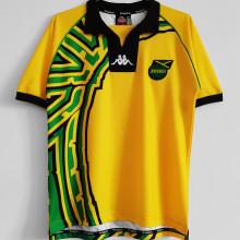 1998 JAMAICA  Home Yellow Retro Soccer Jersey