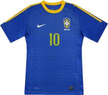 2010 Brazil Away Blue Retro Soccer Jersey